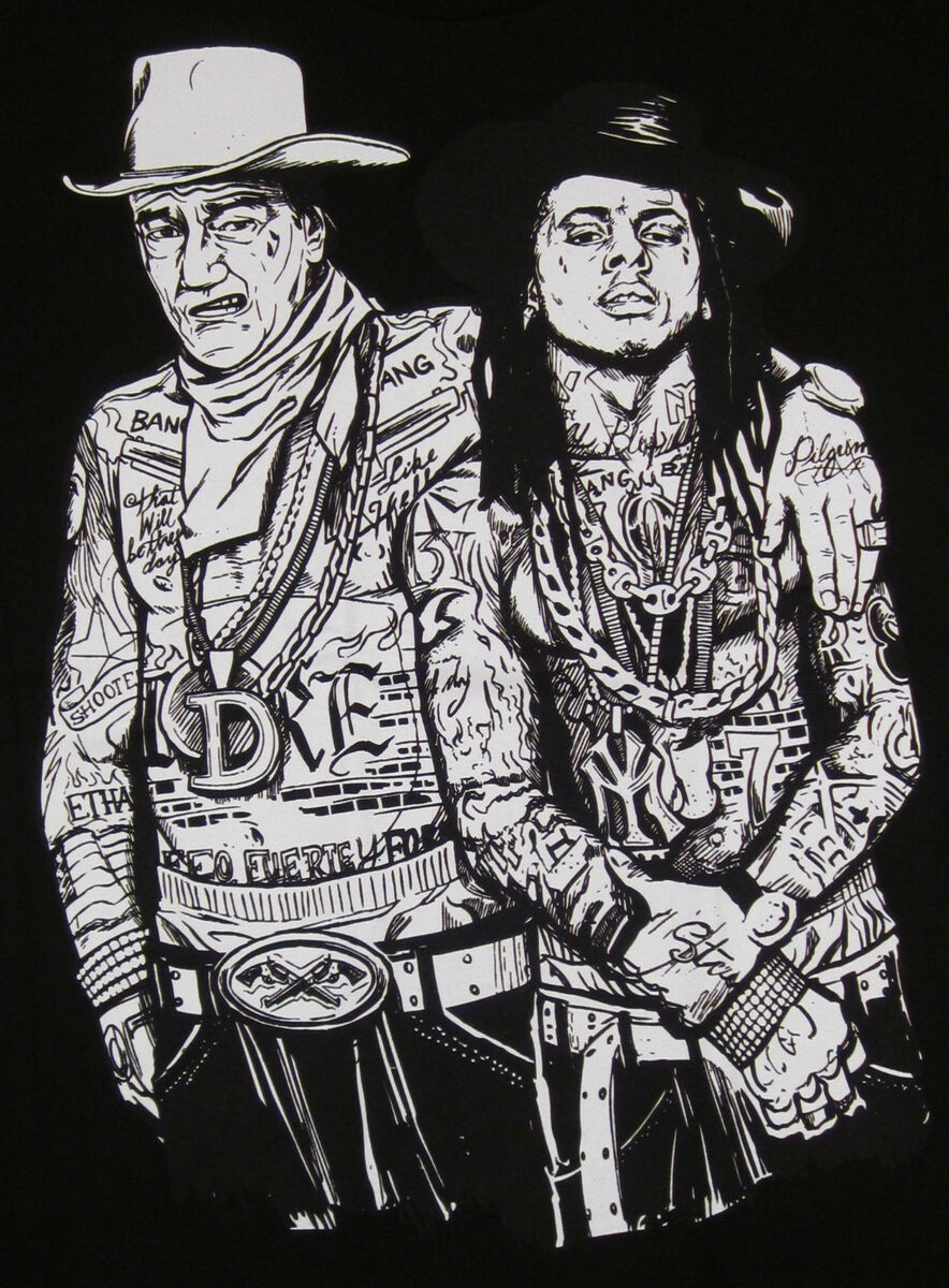 John Wayne Lil Wayne T Shirt Weezy Rap Hip Hop Adult Tee Shirt s M L