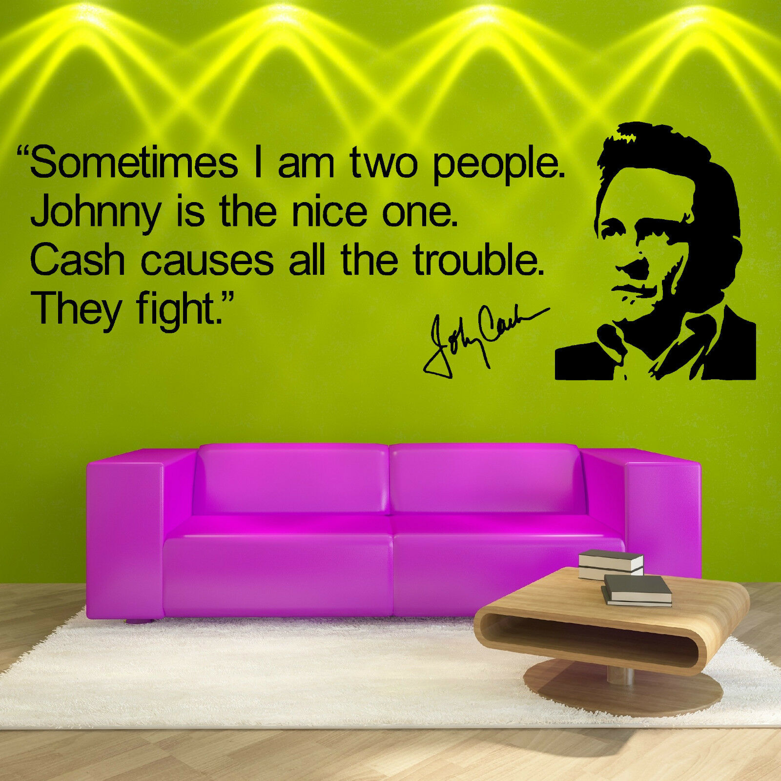 Johnny Cash QUOTE VINYL WALL ART STICKER ROOM DECAL WALL QUOTE | eBay