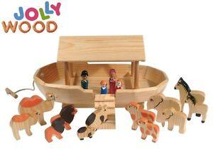jolly wood massivholz 62143 holz arche noah 19 teilig komplett 36cm ebay. Black Bedroom Furniture Sets. Home Design Ideas