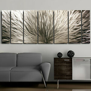 Jon Allen Modern Abstract Metal Hand Made Wall Art Decor Sculpure Silver Plumage in Art, Direct from the Artist, Sculpture & Carvings | eBay