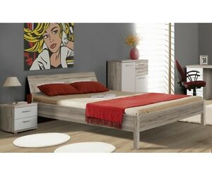 jugendbett futonbett einzelbett bett kinderbett sandeiche wei 140 x 200 cm ebay. Black Bedroom Furniture Sets. Home Design Ideas