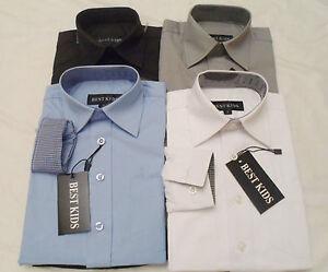 Jungen-Hemd-Langarm-Hemd-Kinder-Hemd-sportliches-festliches-Hemd-Alltag-2-12-J