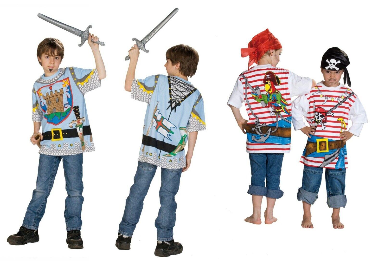 jungen kinder t shirt spielshirt kost m ritter pirat piraten 100 baumwolle neu ebay. Black Bedroom Furniture Sets. Home Design Ideas