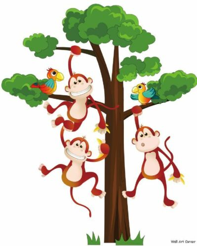 Jungle Monkeys boys Kids Nursery Wall Sticker Decals in Baby, Nursery Decor, Wall Decor | eBay