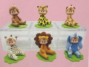 cold porcelain figurines 6 noah 039 s ark baby shower new ebay