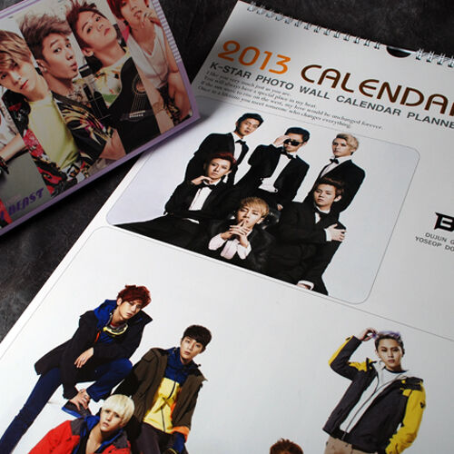 K-POP BEAST 2013 WALL PHOTO CALENDAR + B2ST 2013 PHOTO DESK CALENDAR NEW !!! in Entertainment Memorabilia, Music Memorabilia, Other | eBay