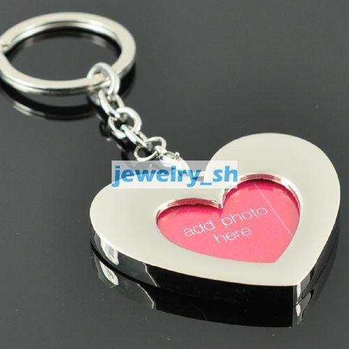 KEYCHAIN Heart Mini Photo Clip SILVER KEY RING K634 in Collectibles, Pez, Keychains, Promo Glasses, Keychains | eBay