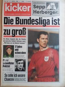 KICKER-14-1-4-1968-Beckenbauer-1860-Bayern-3-2-Geoffrey-Hurst-1-FC-Koeln-HSV-2-1
