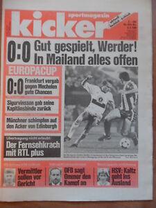 KICKER-19-2-3-1989-Bremen-AC-Mailand-0-0-Stuttgart-San-Sebastian-1-0-Heart-of