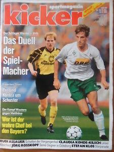 KICKER-38-10-5-1993-Herzog-Sammer-Schalke-Lautern-4-0-Stefan-Klos-Kohde-Kilsch