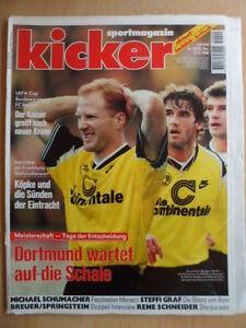KICKER-40-13-5-1996-Borussia-Dortmund-Meister-1860-2-2-Schalke-Bayern-2-1