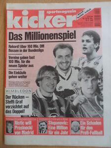 KICKER-53-29-6-1995-Millionenspiel-BL-Statistik-Wimbledon-Leichtathletik