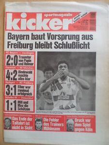 KICKER-71-31-8-1995-Elber-VfB-Freiburg-3-1-Rostock-Dortmund-3-2-Koeln-HSV