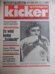 KICKER-81-6-10-1977-Klaus-Fischer-Vorschau-Italien-Wolfgang-Frank-Nikki-Lauda