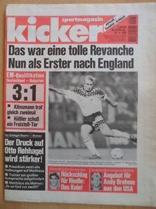 KICKER-93-16-11-1995-Klinsmann-Deutschland-Bulgarien-3-1-U-21-7-0-Formel-1