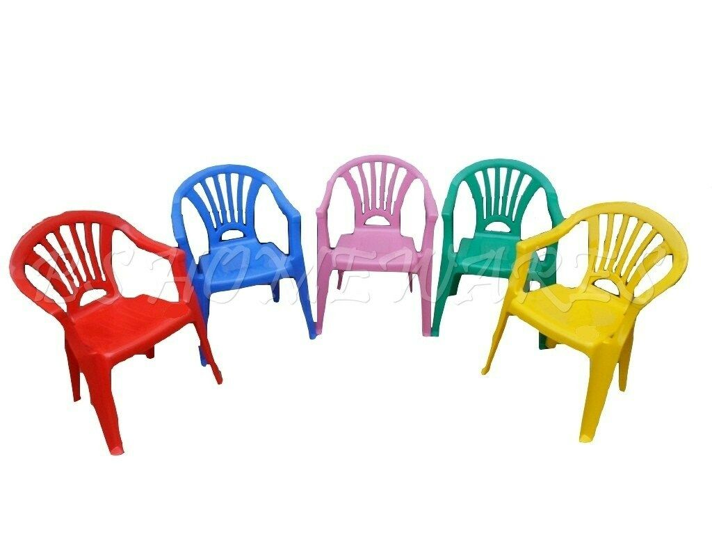 KIDS CHILDREN PLASTIC INDOOR OUTDOOR STACKABLE GARDEN HOME PICNIC CHAIR ASSORTED