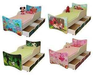 kinderbett bett jugendbett 4 gr en mit zwei schubladen ebay. Black Bedroom Furniture Sets. Home Design Ideas