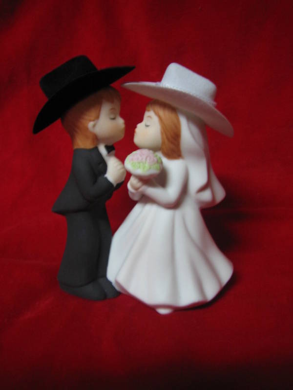 KISSING COWBOY COWGIRL WESTERN WEDDING CAKE TOPPER eBay