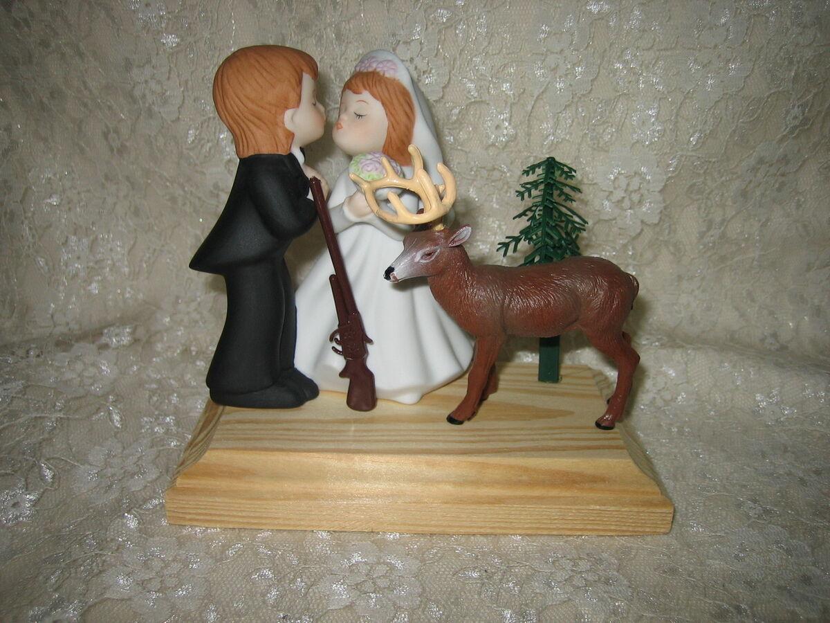 deer hunting wedding cake toppers