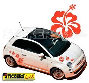 kit adesivi fiori 1 smart fiat 500 car flowers stickers ebay. Black Bedroom Furniture Sets. Home Design Ideas