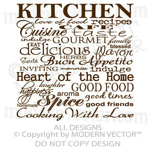Kitchen quotes wall decals home design for Kitchen design quotation
