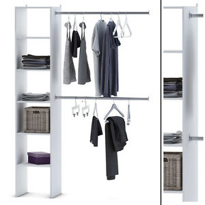 kleiderschrank 6735 offen begehbar regal kleiderst nder schrank wei garderobe ebay. Black Bedroom Furniture Sets. Home Design Ideas