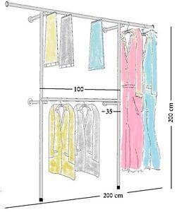 kleiderst nder wandregal kleiderkammer kleiderstange garderobe textilst nder w01 ebay. Black Bedroom Furniture Sets. Home Design Ideas