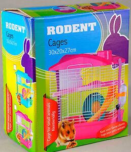 kleintierk fig stall f r maus m use hamster k fig pink gehege ebay. Black Bedroom Furniture Sets. Home Design Ideas
