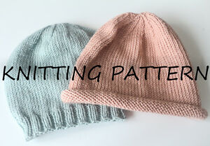 KNITTING PATTERN - BABY BASICS BEANIE HATS - DEBBIE BLISS BABY