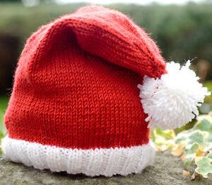 KNITTING PATTERN - CUTE BABY SANTA HAT - DEBBIE BLISS CASHMERINO DK