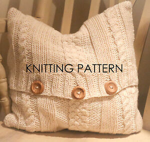 Free Knitting Patterns For Cushions In Cable Knit : KNITTING PATTERN -