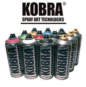 kobra paint aerosol art spray paint cans 12 pack ebay. Black Bedroom Furniture Sets. Home Design Ideas