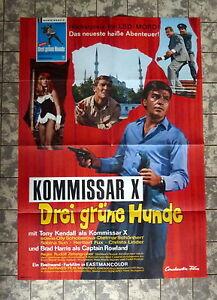 KOMMISSAR-X-Drei-gruene-Hunde-DEATH-TRAP-A1-FILMPOSTER-67-KENDALL-HARRIS