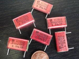 KONDENSATOR-HOCHVOLT-ERO-3-3nF-3300pF-1000V-STYROFLEX-19x11x4mm-6x-25550