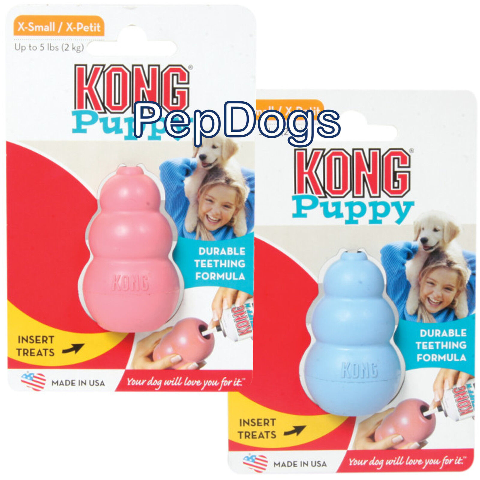 Toys For Teething : Kong puppy small rubber teething dog treat chew toy