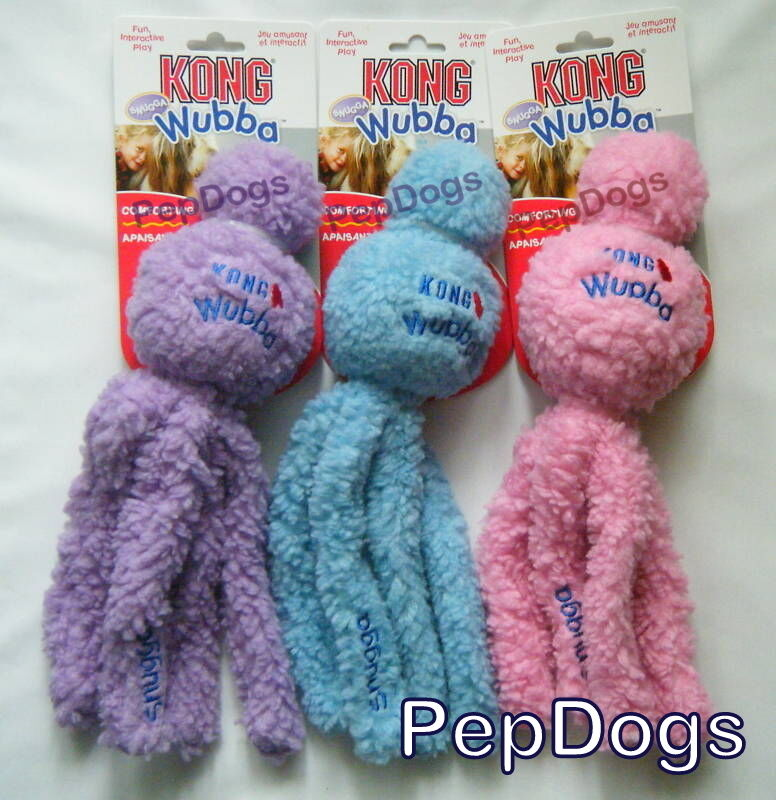 Kong Snugga Wubba Small Dog Puppy Fetch Tug Cuddle Snuggle Rubber Ball Toy