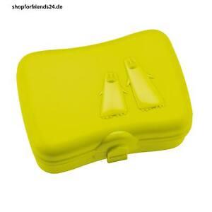 koziol lunchbox mit k hlakku brotdose vorratsdose ping pong senf neu. Black Bedroom Furniture Sets. Home Design Ideas