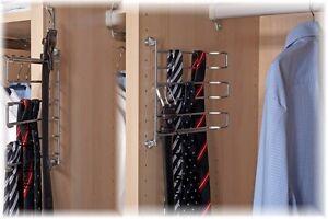 krawattenhalter g rtelhalter f r schrankeinbau schwenkbar ebay. Black Bedroom Furniture Sets. Home Design Ideas