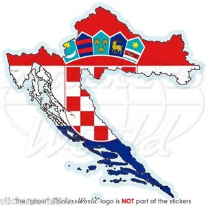 kroatien landkarte flagge hrvatska fahne kroatische vinyl. Black Bedroom Furniture Sets. Home Design Ideas