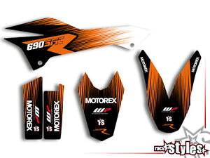 ktm 690 smc smc r enduro 08 16 factory dekor decals. Black Bedroom Furniture Sets. Home Design Ideas
