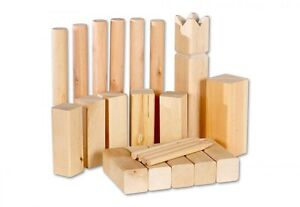 kubb schach aus holz spiel f drau en strandspiel. Black Bedroom Furniture Sets. Home Design Ideas