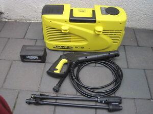 Kaercher-HC-10-Hochdruckreiniger-Akku-nur-1-x-benutzt-TOP