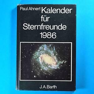 Kalender-fuer-Sternfreunde-1986-Ahnerts-DDR-Astronomisches-Jahrbuch-Barth