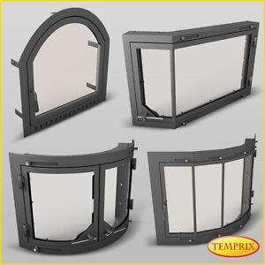 kamint r mit glaseinsatz funkenschutzt r offener kamin nachr sten ofent r wollin ebay. Black Bedroom Furniture Sets. Home Design Ideas