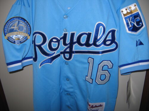Kansas City Royals #16 Bo Jackson w/40th patch sewn Jersey XL p.blue NEW W/TAGS in Sporting Goods, Wholesale Lots, Other Wholesale Lots | eBay