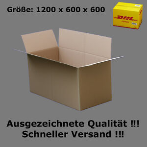 karton dhl 1200x600x600 versandkarton 120x60x60 cm faltkartons ebay. Black Bedroom Furniture Sets. Home Design Ideas