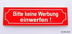 keine werbung einwerfen gravur schild t rschild klingelschild 70 x 20 mm neu ebay. Black Bedroom Furniture Sets. Home Design Ideas