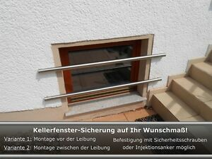 kellerfenster einbruchschutz kellerfenster sicherung auf ma gefertigt edelstahl ebay. Black Bedroom Furniture Sets. Home Design Ideas