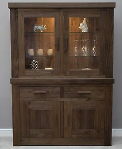 modern walnut furniture dining room dresser display cabinet ebay