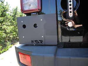 kennzeichenhalter jeep wrangler jk nsr mit led beleuchtung ebay. Black Bedroom Furniture Sets. Home Design Ideas